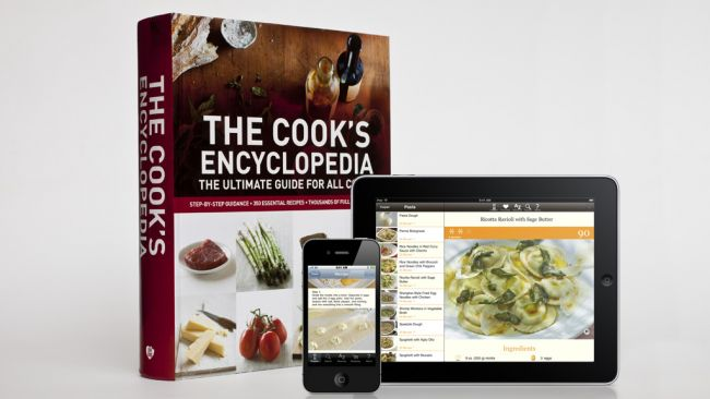 The Cook's Encyclopedia for iPhone, iPad and as a 786 p book