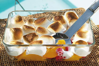 Fruitsalade met marshmallows